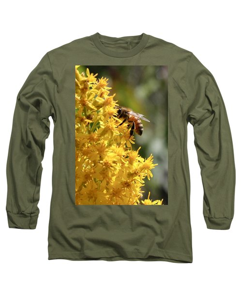 Honeybee On Showy Goldenrod Long Sleeve T-Shirt