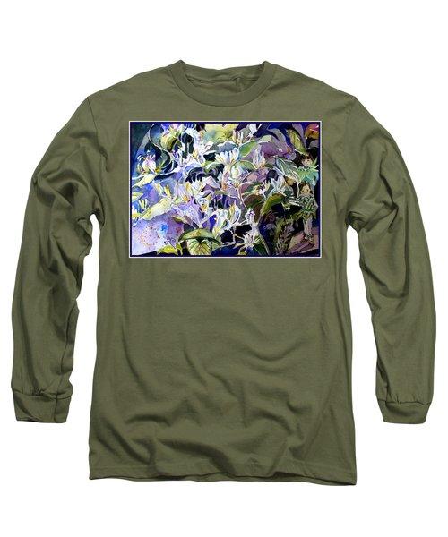 Honeysuckle Fairies Long Sleeve T-Shirt by Mindy Newman
