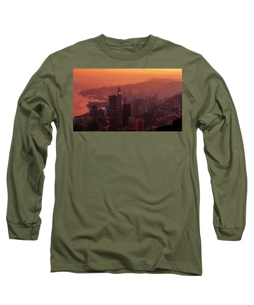 Hong Kong City View From Victoria Peak Long Sleeve T-Shirt