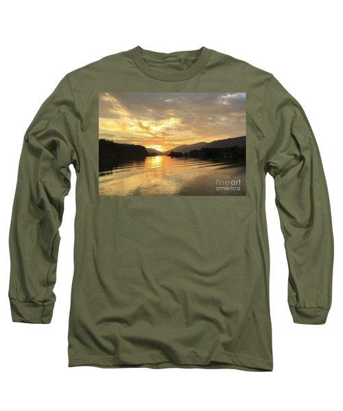 Hood River Golden Sunset Long Sleeve T-Shirt