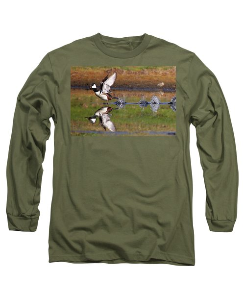 Hooded Merganser Long Sleeve T-Shirt