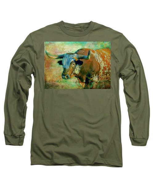Hook 'em 1 Long Sleeve T-Shirt by Colleen Taylor