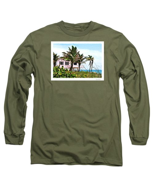 Long Sleeve T-Shirt featuring the photograph Hope Sound House by Linda Olsen