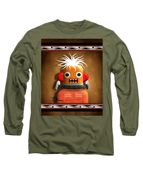 Long Sleeve T-Shirt featuring the digital art Hopi Indian Kachina by John Wills