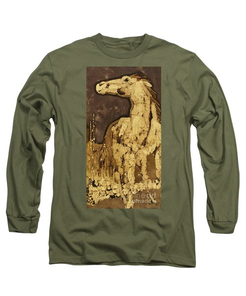 Horse Above Stones Long Sleeve T-Shirt