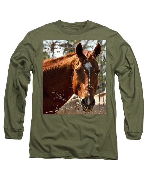 Horse Portrait Long Sleeve T-Shirt