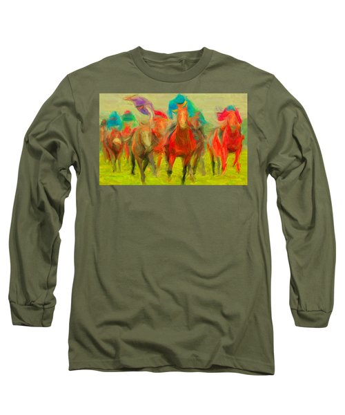 Horse Tracking Long Sleeve T-Shirt