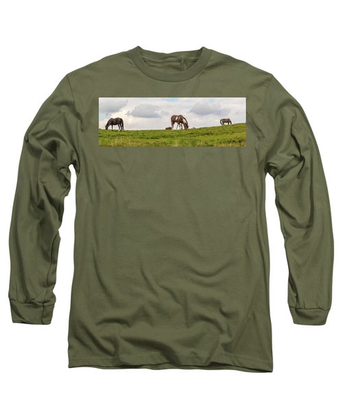 Horses And Clouds Long Sleeve T-Shirt