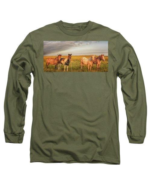 Horses At Kalae Long Sleeve T-Shirt