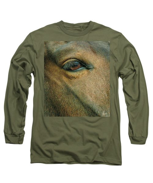 Long Sleeve T-Shirt featuring the photograph Horses Eye by Bruce Carpenter