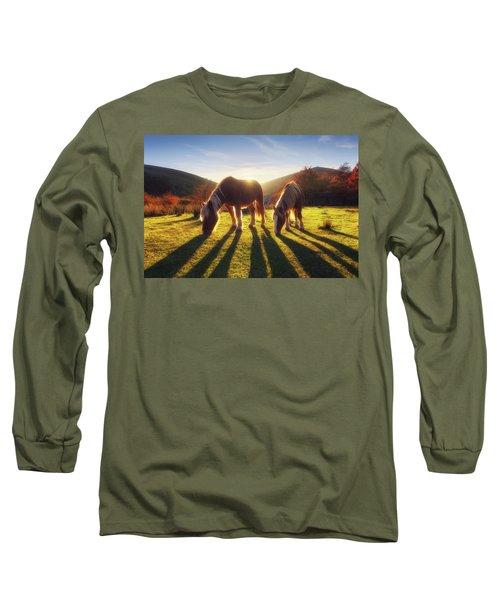 Horses In Austigarmin Long Sleeve T-Shirt