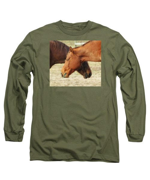 Horses In Sinc Long Sleeve T-Shirt by MTBobbins Photography