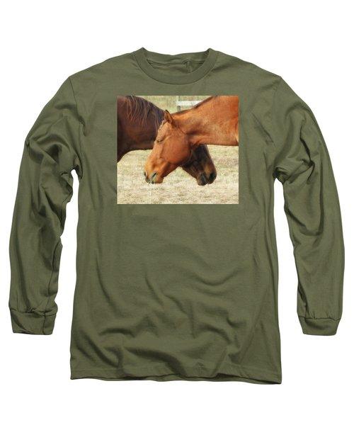Horses In Sinc Long Sleeve T-Shirt