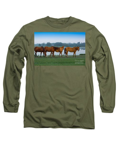 Horses On The Walk Long Sleeve T-Shirt