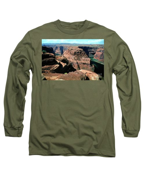 Horseshoe Bend Of The Colorado River Long Sleeve T-Shirt by Wernher Krutein
