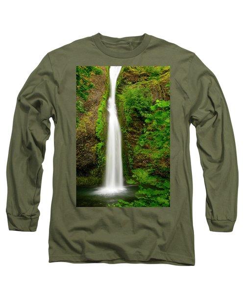 Horsetail Falls, Columbia River Gorge Long Sleeve T-Shirt