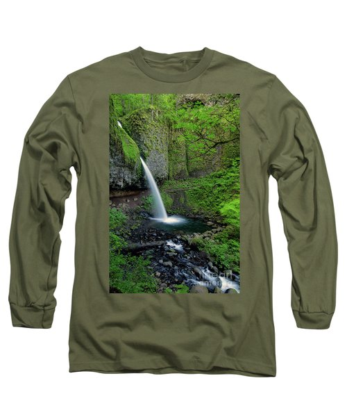 Horsetail Falls Waterfall Art By Kaylyn Franks Long Sleeve T-Shirt