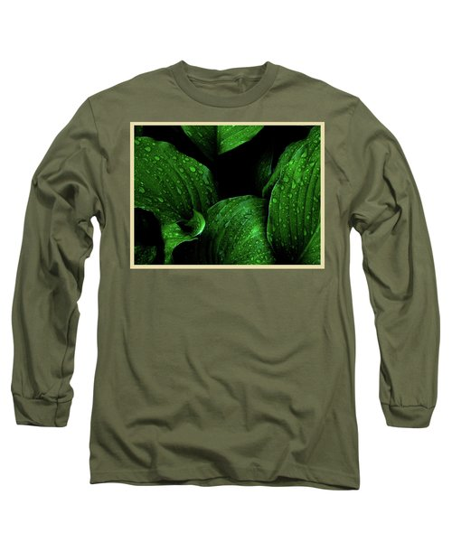 Hostas After The Rain I Long Sleeve T-Shirt