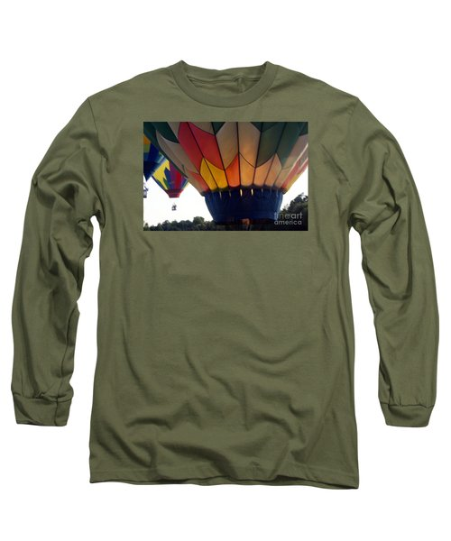 Long Sleeve T-Shirt featuring the painting Hot Air Balloon by Debra Crank