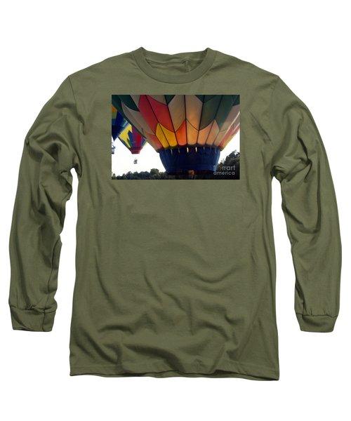 Hot Air Balloon Long Sleeve T-Shirt by Debra Crank