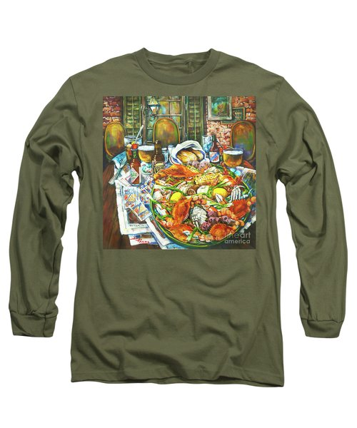 Hot Boiled Crabs Long Sleeve T-Shirt