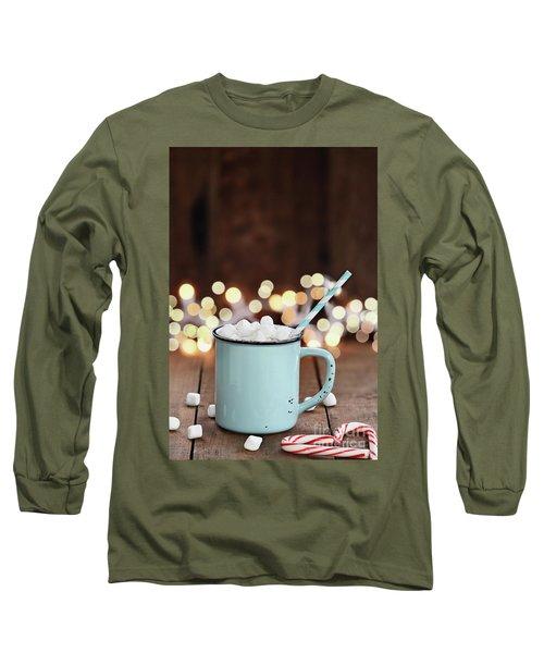 Hot Cocoa With Mini Marshmallows Long Sleeve T-Shirt by Stephanie Frey