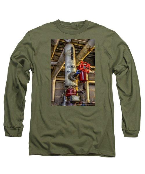 Hot Water Supply Long Sleeve T-Shirt by Dan Stone