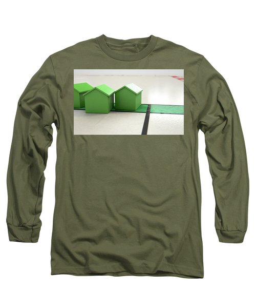 House Icon On A Boardgame Long Sleeve T-Shirt