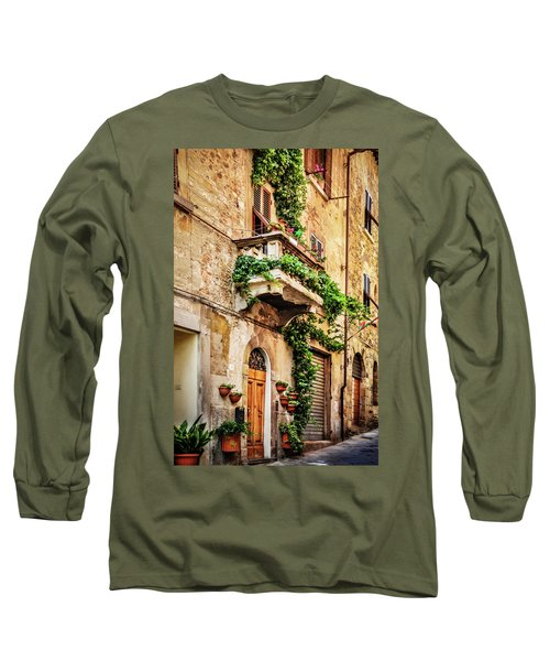 Long Sleeve T-Shirt featuring the photograph House In Arezzoo, Italy by Marion McCristall