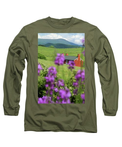 Long Sleeve T-Shirt featuring the photograph House On Virginia's Hills by Emanuel Tanjala