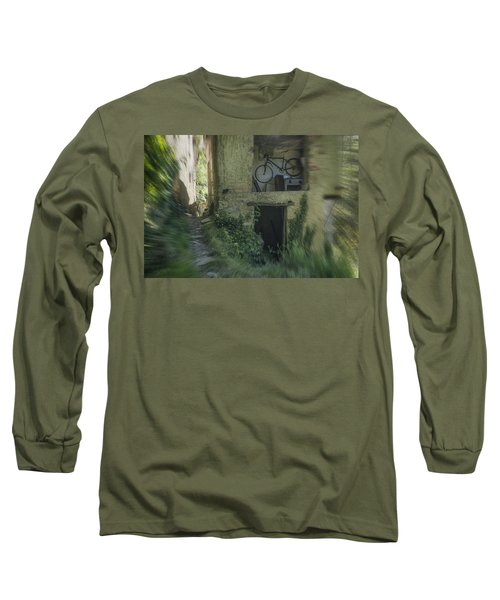 House With Bycicle Long Sleeve T-Shirt