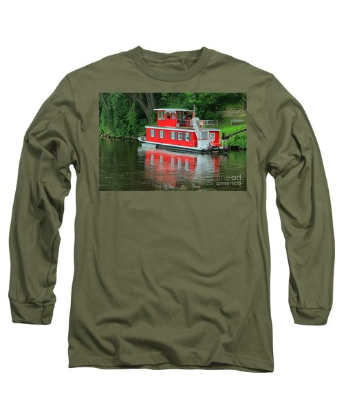 Houseboat On The Mississippi River Long Sleeve T-Shirt