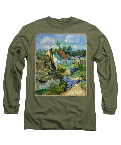 Long Sleeve T-Shirt featuring the painting Houses In Auvers by Van Gogh