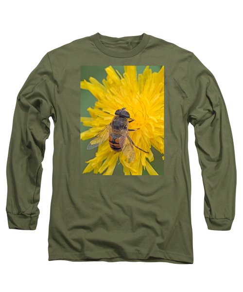 Hover Fly On Sow Thistle Long Sleeve T-Shirt