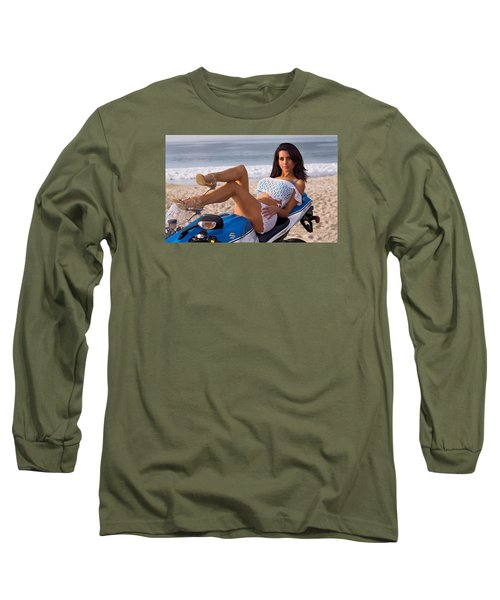 How About Those Legs? Long Sleeve T-Shirt by Lawrence Christopher