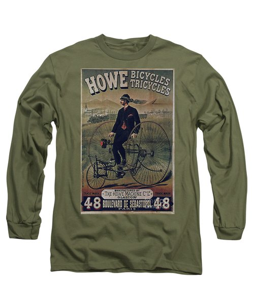 Howe Bicycles Tricycles Vintage Cycle Poster Long Sleeve T-Shirt