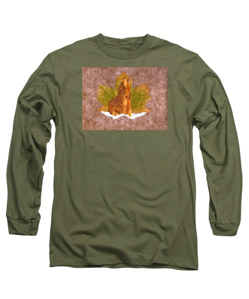 Howling Wolf Long Sleeve T-Shirt by Ralph Root