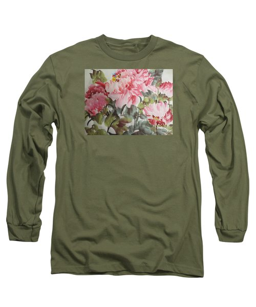 Long Sleeve T-Shirt featuring the painting Hp11192015-0769 by Dongling Sun