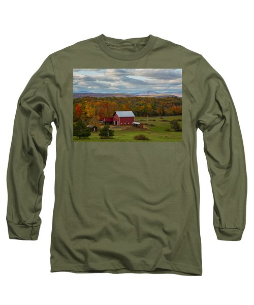 Long Sleeve T-Shirt featuring the photograph Hudson Valley Ny Fall Colors by Susan Candelario