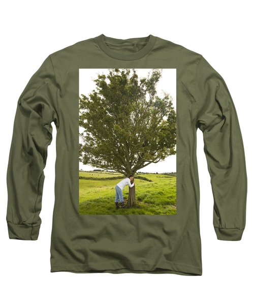 Long Sleeve T-Shirt featuring the photograph Hugging The Fairy Tree In Ireland by Ian Middleton