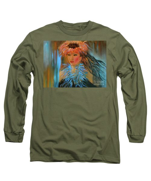 Hula In Turquoise Long Sleeve T-Shirt by Jenny Lee