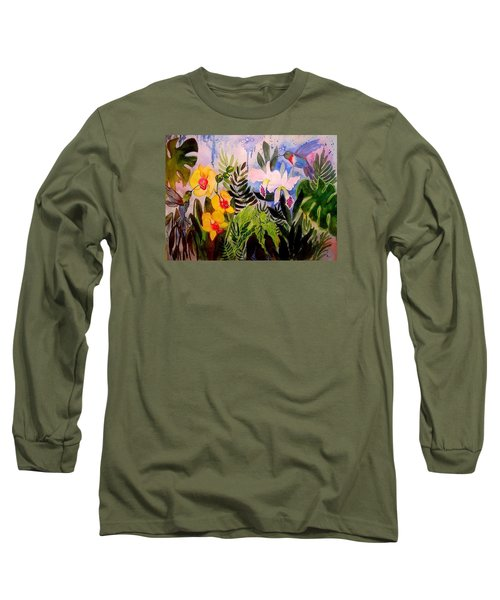 Hummers And Orchids Long Sleeve T-Shirt