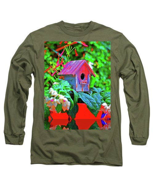 Humming Bird House Long Sleeve T-Shirt
