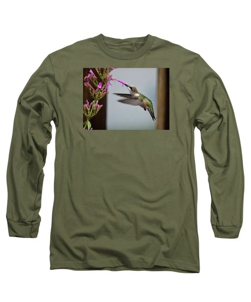 Hummingbird And Agastache Long Sleeve T-Shirt