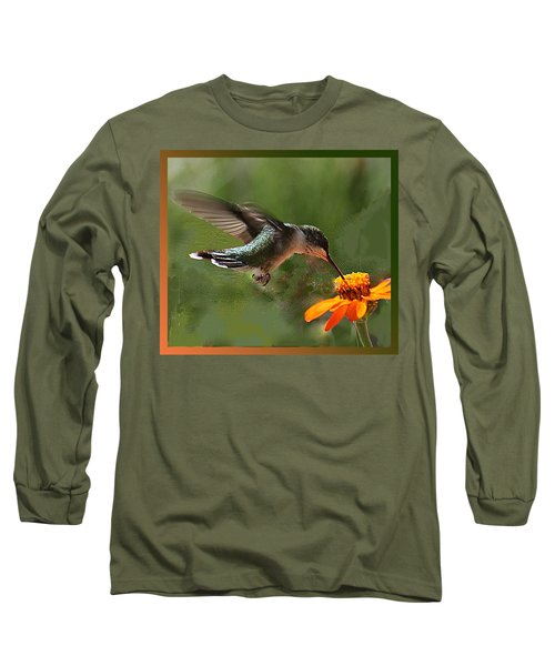 Hummingbird Art Long Sleeve T-Shirt