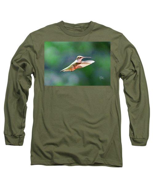 Hummingbird Flying Long Sleeve T-Shirt