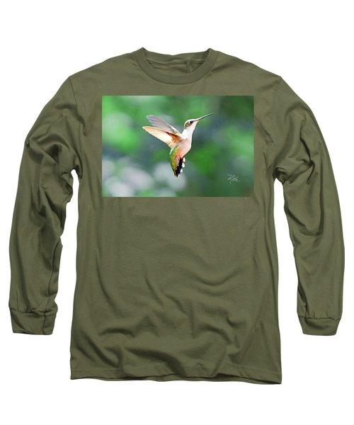 Hummingbird Hovering Long Sleeve T-Shirt