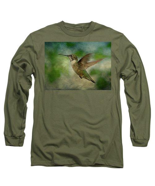 Hummingbird In Flight II Long Sleeve T-Shirt
