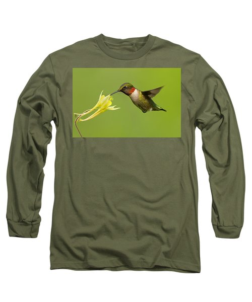 Hummingbird Long Sleeve T-Shirt by Mircea Costina Photography