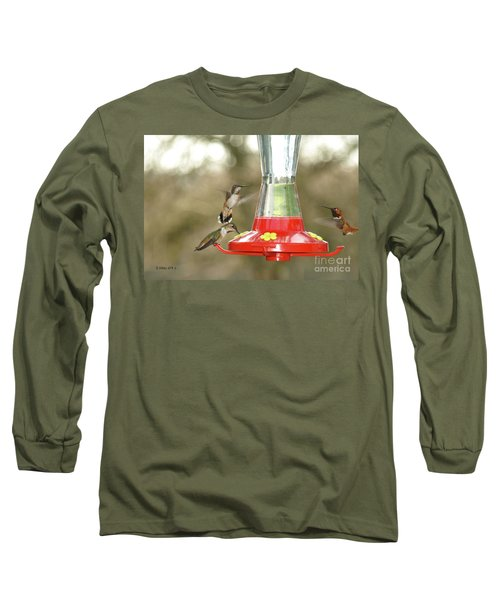 Hummingbird Trio Long Sleeve T-Shirt